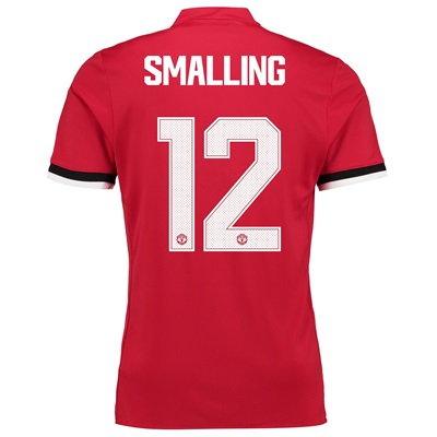 Manchester United Home Cup Shirt 2017-18 with Smalling 12 printing