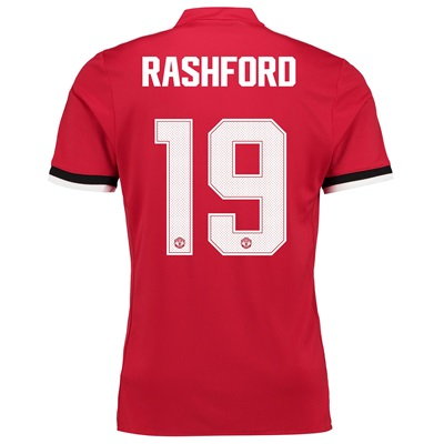 Manchester United Home Cup Shirt 2017-18 with Rashford 19 printing