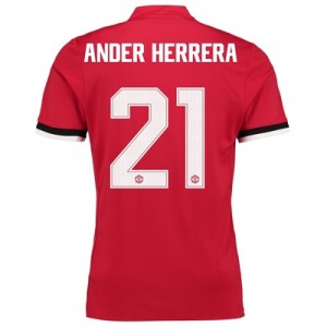 Manchester United Home Cup Shirt 2017-18 with Ander Herrera 21 printin