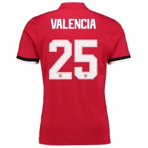 Manchester United Home Cup Shirt 2017-18 with Valencia 25 printing