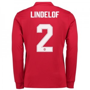 Manchester United Home Cup Shirt 2017-18 – Long Sleeve with Lindelof 2