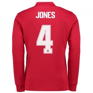 Manchester United Home Cup Shirt 2017-18 – Long Sleeve with Jones 4 pr