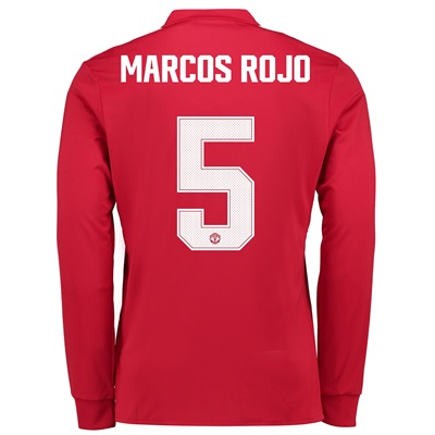 Manchester United Home Cup Shirt 2017-18 – Long Sleeve with Marcos Roj