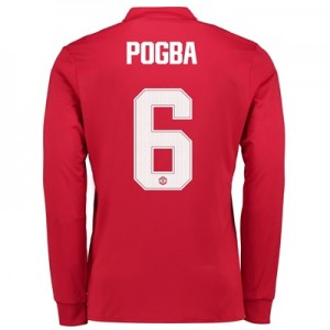 Manchester United Home Cup Shirt 2017-18 – Long Sleeve with Pogba 6 pr