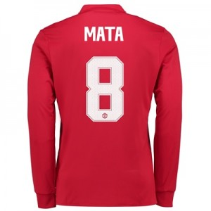 Manchester United Home Cup Shirt 2017-18 – Long Sleeve with Mata 8 pri