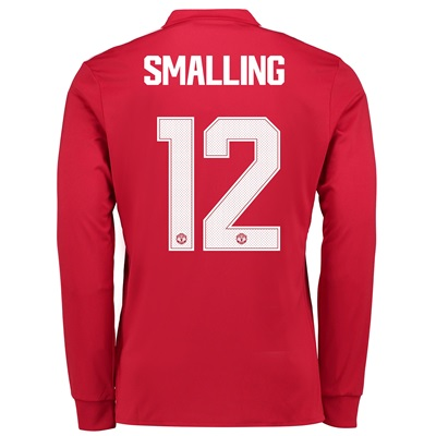 Manchester United Home Cup Shirt 2017-18 – Long Sleeve with Smalling 1