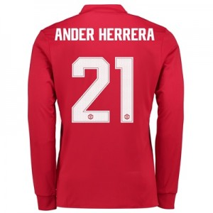 Manchester United Home Cup Shirt 2017-18 – Long Sleeve with Ander Herr