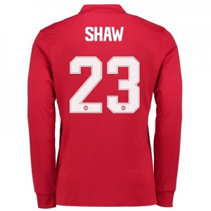 Manchester United Home Cup Shirt 2017-18 – Long Sleeve with Shaw 23 pr