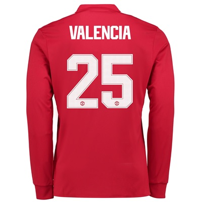 Manchester United Home Cup Shirt 2017-18 – Long Sleeve with Valencia 2