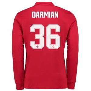 Manchester United Home Cup Shirt 2017-18 – Long Sleeve with Darmian 36