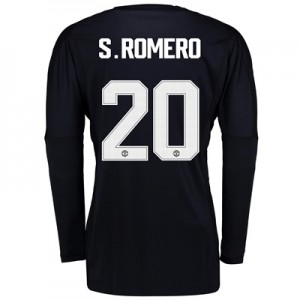 Manchester United Home Goalkeeper Cup Shirt 2017-18 with S.Romero 20 p