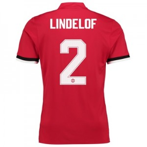 Manchester United Home Cup Shirt 2017-18 – Kids with Lindelof 2 printi