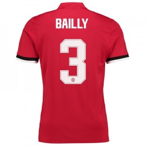 Manchester United Home Cup Shirt 2017-18 – Kids with Bailly 3 printing