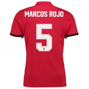 Manchester United Home Cup Shirt 2017-18 – Kids with Marcos Rojo 5 pri