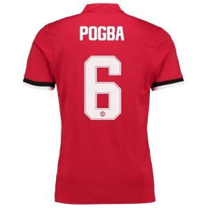 Manchester United Home Cup Shirt 2017-18 – Kids with Pogba 6 printing
