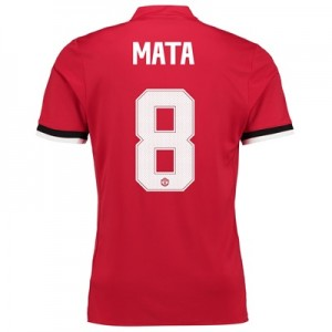 Manchester United Home Cup Shirt 2017-18 – Kids with Mata 8 printing