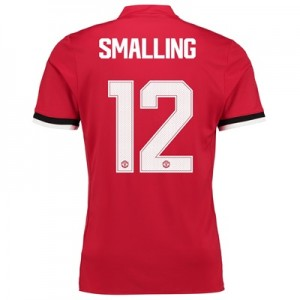 Manchester United Home Cup Shirt 2017-18 – Kids with Smalling 12 print