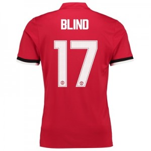 Manchester United Home Cup Shirt 2017-18 – Kids with Blind 17 printing