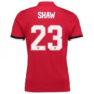 Manchester United Home Cup Shirt 2017-18 – Kids with Shaw 23 printing