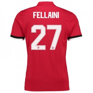 Manchester United Home Cup Shirt 2017-18 – Kids with Fellaini 27 print