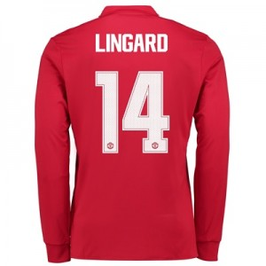 Manchester United Home Cup Shirt 2017-18 – Kids – Long Sleeve with Lin