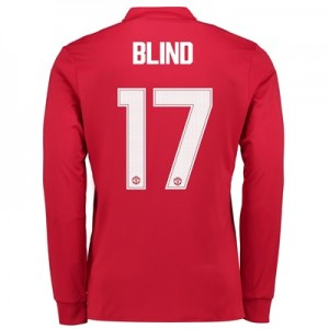 Manchester United Home Cup Shirt 2017-18 – Kids – Long Sleeve with Bli