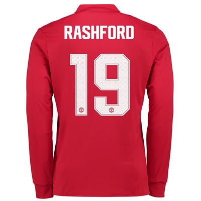 Manchester United Home Cup Shirt 2017-18 – Kids – Long Sleeve with Ras