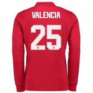 Manchester United Home Cup Shirt 2017-18 – Kids – Long Sleeve with Val