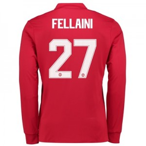 Manchester United Home Cup Shirt 2017-18 – Kids – Long Sleeve with Fel