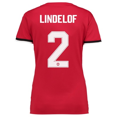 Manchester United Home Cup Shirt 2017-18 – Womens with Lindelof 2 prin