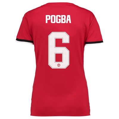 Manchester United Home Cup Shirt 2017-18 – Womens with Pogba 6 printin