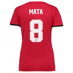 Manchester United Home Cup Shirt 2017-18 – Womens with Mata 8 printing