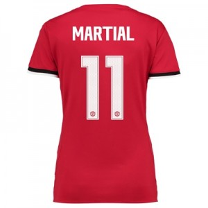 Manchester United Home Cup Shirt 2017-18 – Womens with Martial 11 prin