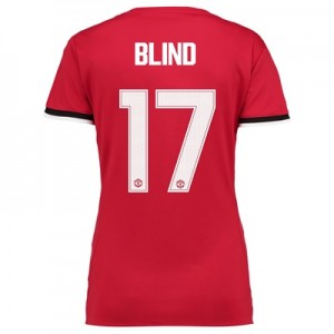 Manchester United Home Cup Shirt 2017-18 – Womens with Blind 17 printi