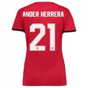 Manchester United Home Cup Shirt 2017-18 – Womens with Ander Herrera 2