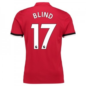 Manchester United Home Shirt 2017-18 with Blind 17 printing