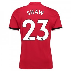 Manchester United Home Shirt 2017-18 with Shaw 23 printing