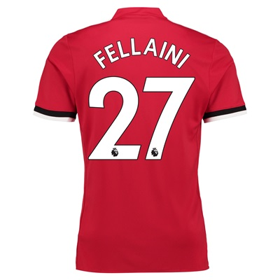 Manchester United Home Shirt 2017-18 with Fellaini 27 printing