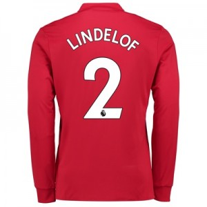 Manchester United Home Shirt 2017-18 – Long Sleeve with Lindelof 2 pri