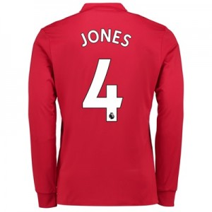 Manchester United Home Shirt 2017-18 – Long Sleeve with Jones 4 printi