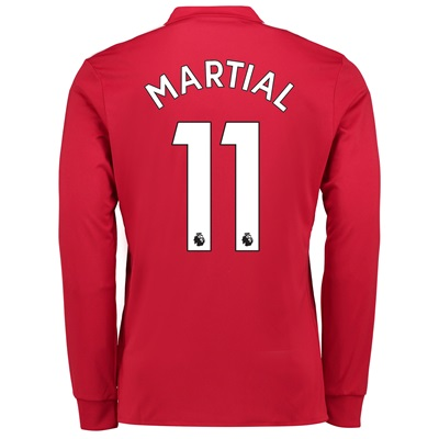 Manchester United Home Shirt 2017-18 – Long Sleeve with Martial 11 pri