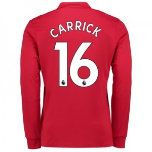Manchester United Home Shirt 2017-18 – Long Sleeve with Carrick 16 pri