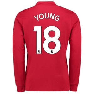 Manchester United Home Shirt 2017-18 – Long Sleeve with Young 18 print