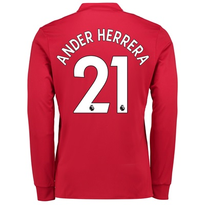 Manchester United Home Shirt 2017-18 – Long Sleeve with Ander Herrera