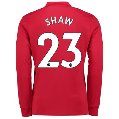 Manchester United Home Shirt 2017-18 – Long Sleeve with Shaw 23 printi