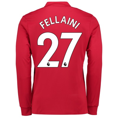 Manchester United Home Shirt 2017-18 – Long Sleeve with Fellaini 27 pr