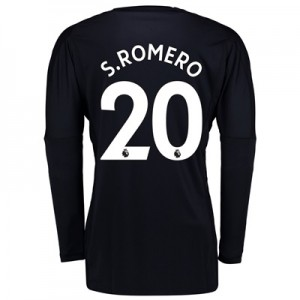 Manchester United Home Goalkeeper Shirt 2017-18 with S.Romero 20 print
