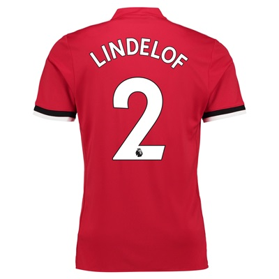 Manchester United Home Shirt 2017-18 – Kids with Lindelof 2 printing