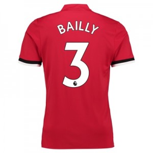 Manchester United Home Shirt 2017-18 – Kids with Bailly 3 printing
