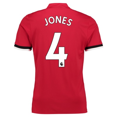 Manchester United Home Shirt 2017-18 – Kids with Jones 4 printing